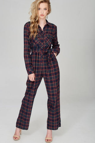 Fort Hamilton Velvet Jumpsuit in Black