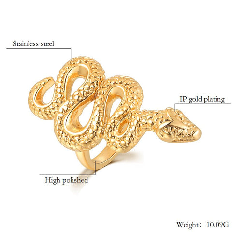 Image of Serpent Snake RIng