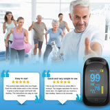 Portable Pulse Oximeter Fingertip, Blood Oxygen Saturation and Heart Rate Monitor