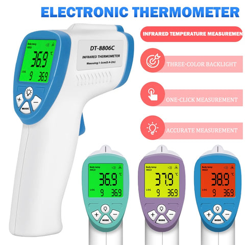 Non Contact Infrared Forehead Thermometer for Babes and Adults LCD Display Digital