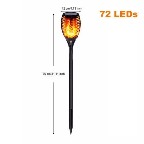 LED Solar Flame Outdoor Lights