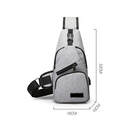 Image of Sling Bag with USB Charging Port