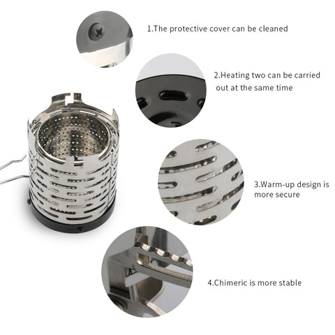 Image of Mini Heater Infrared Outdoor Travel Camping Heating Stove Cap