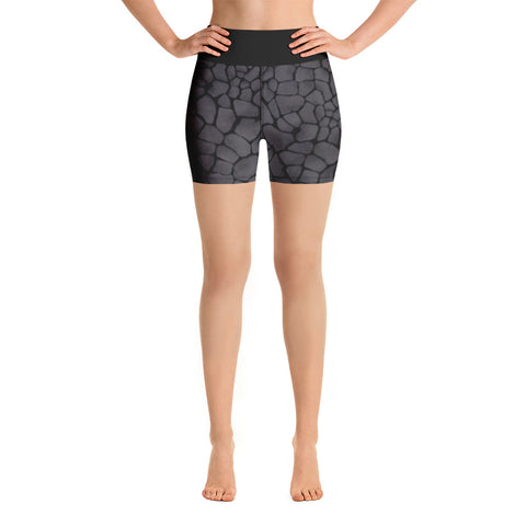 Grey Stone Yoga Shorts