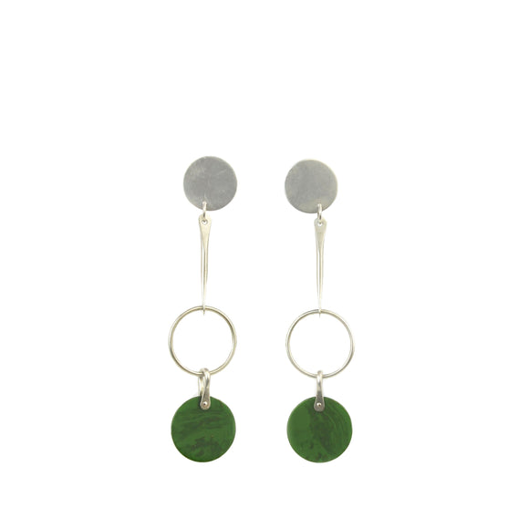 Triple Circle Post Earrings