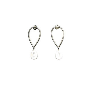 Double Tear Drop Post Earrings