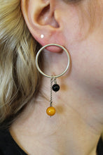 Hoop & Balls Post Earrings