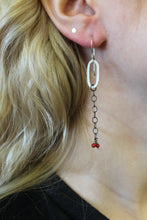 Silver Clip Link & Coral Earring