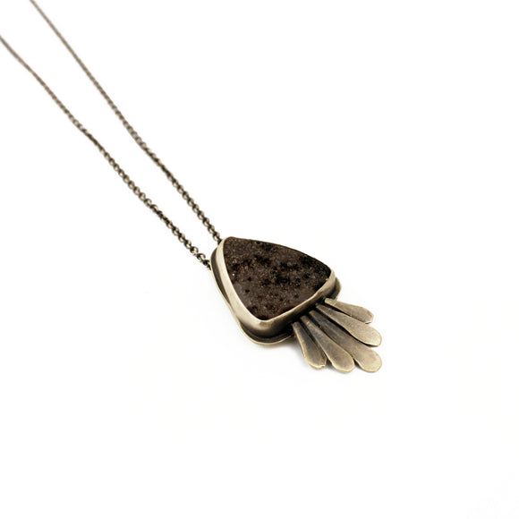 Gem Feather Necklace