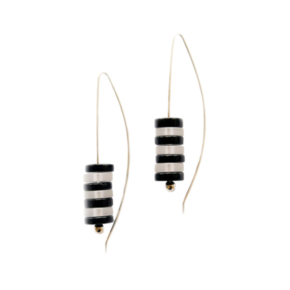 Zebra Glass Earrings