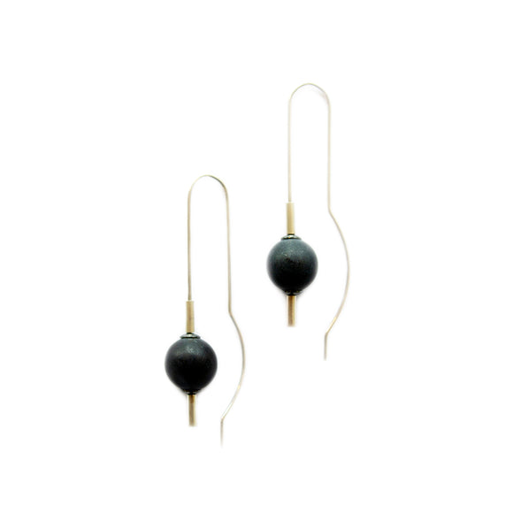 LO Black Jade Earrings