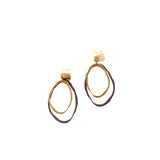 Double Layer Post Earrings