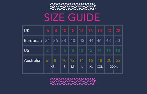 SIZE GUIDE/CARE – doopsdesigns