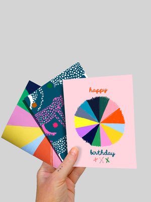 Set of 3 x Greeting Cards A6