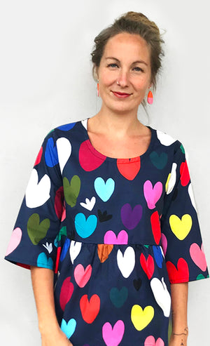 Bright Heart's OPTION TOP OR DRESS 100% cotton pleated