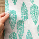 Bottlebrush Leaf 100% Linen Fabric - Fat Quarter