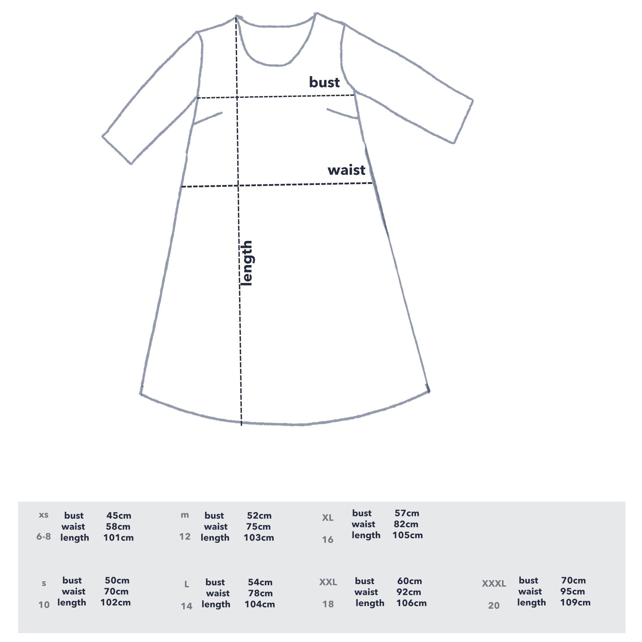 PRE - ORDER Cowley Fields 100% organic cotton dress