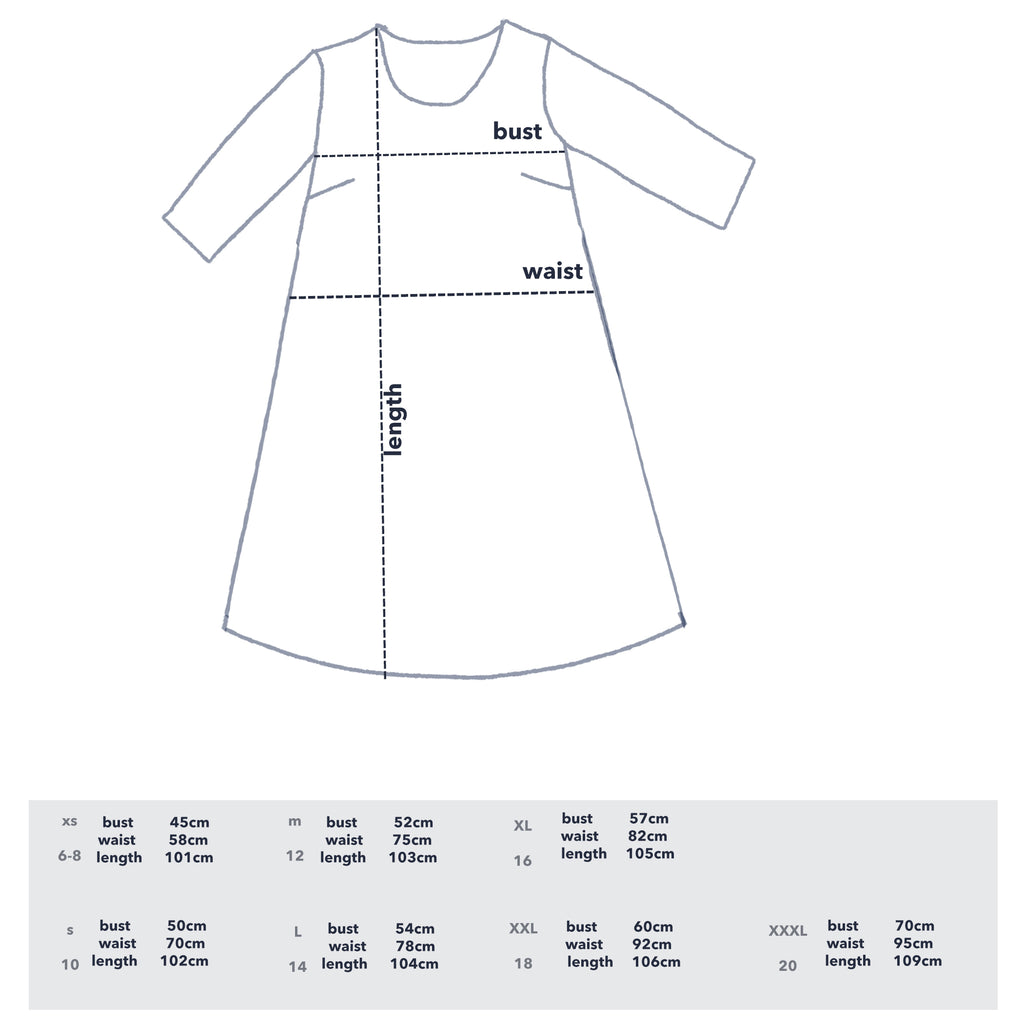 PRE - ORDER 100% LINEN/COTTON Cowley Fields dress