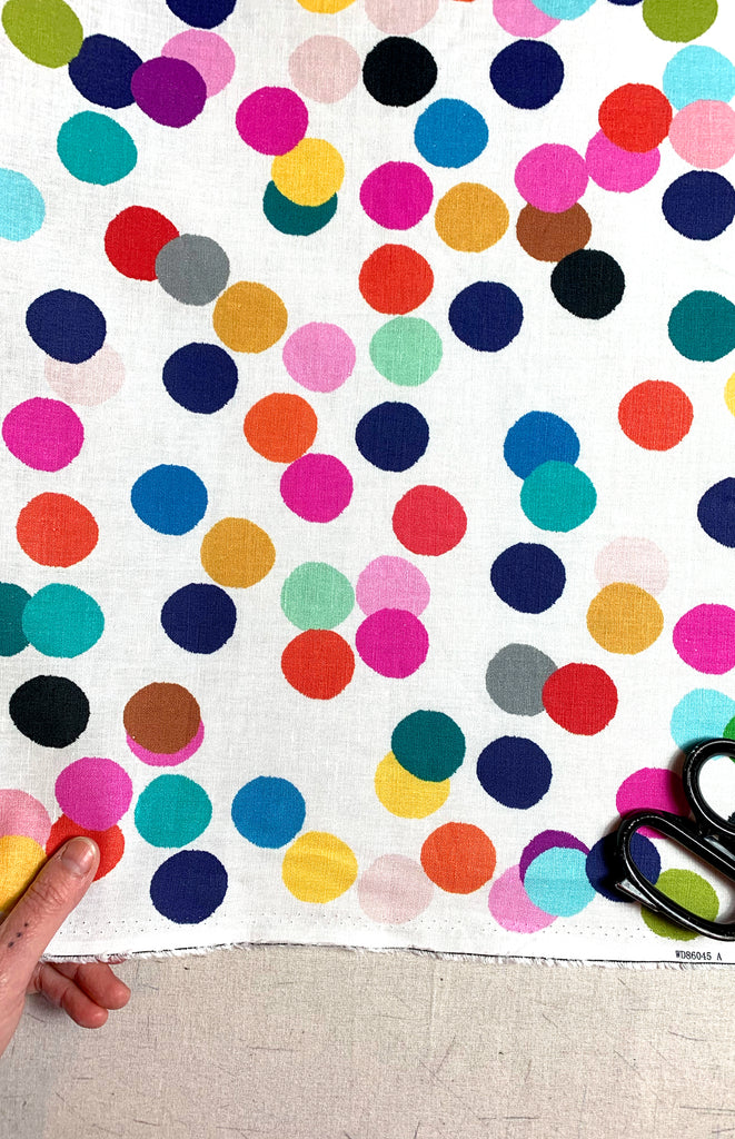 NEW Confetti 100% Organic cotton knit/digitally printed by 1 Meterage