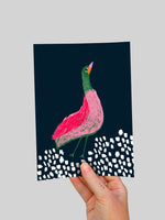 Bright Bird (large) A5 Postcard