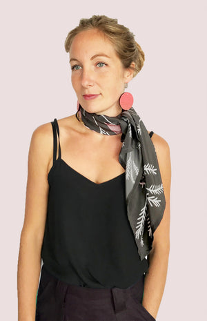 Load image into Gallery viewer, Cowley Fields Silk Crepe De Chine Scarf.