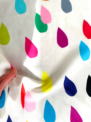 Bright Drops linen + cotton - white (available on the 5th of June)