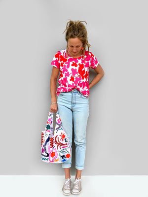 Load image into Gallery viewer, Pinky Clover Kooki 100% organic jersey T'shirt