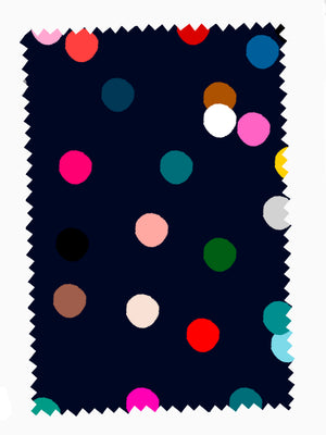 Load image into Gallery viewer, Navy Confetti cotton linen