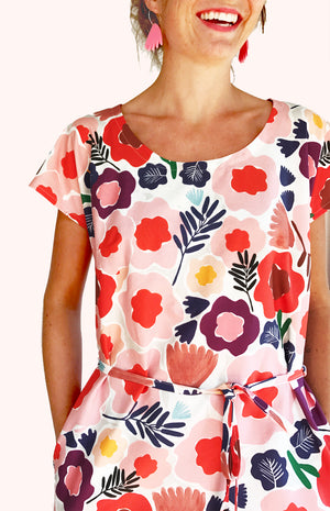 Olive's Garden 100% cotton dress with pockets (cap sleeves)