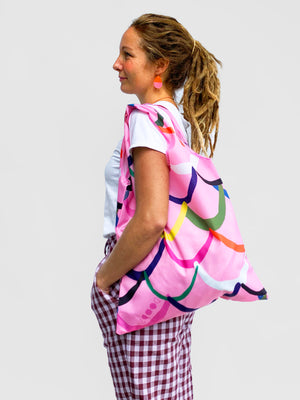 Pink Waves Bag (comes with pouch)