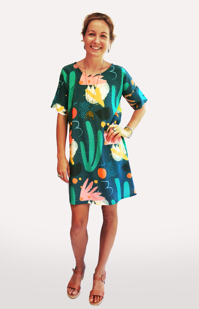 ALL SIZES BACK IN STOCK Cowgirl Bloom Silk Dress