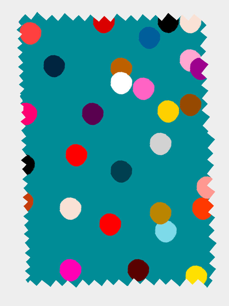 Load image into Gallery viewer, Teal Confetti 100% Organic cotton knit