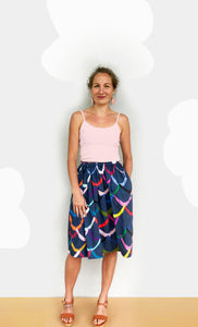 Pre - order Bright Wave's 100% cotton skirt (navy)