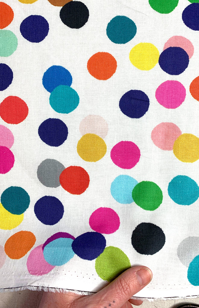 NEW Confetti cotton linen per metre (larger print)