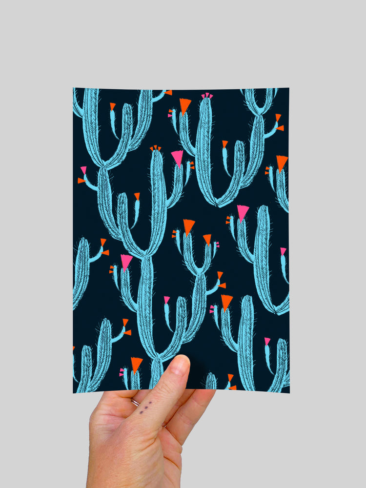 Cactus Love(large) A5 Postcard