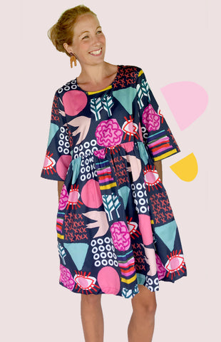 SOLD OUT Bliss Play 100% organic pleated cotton dress