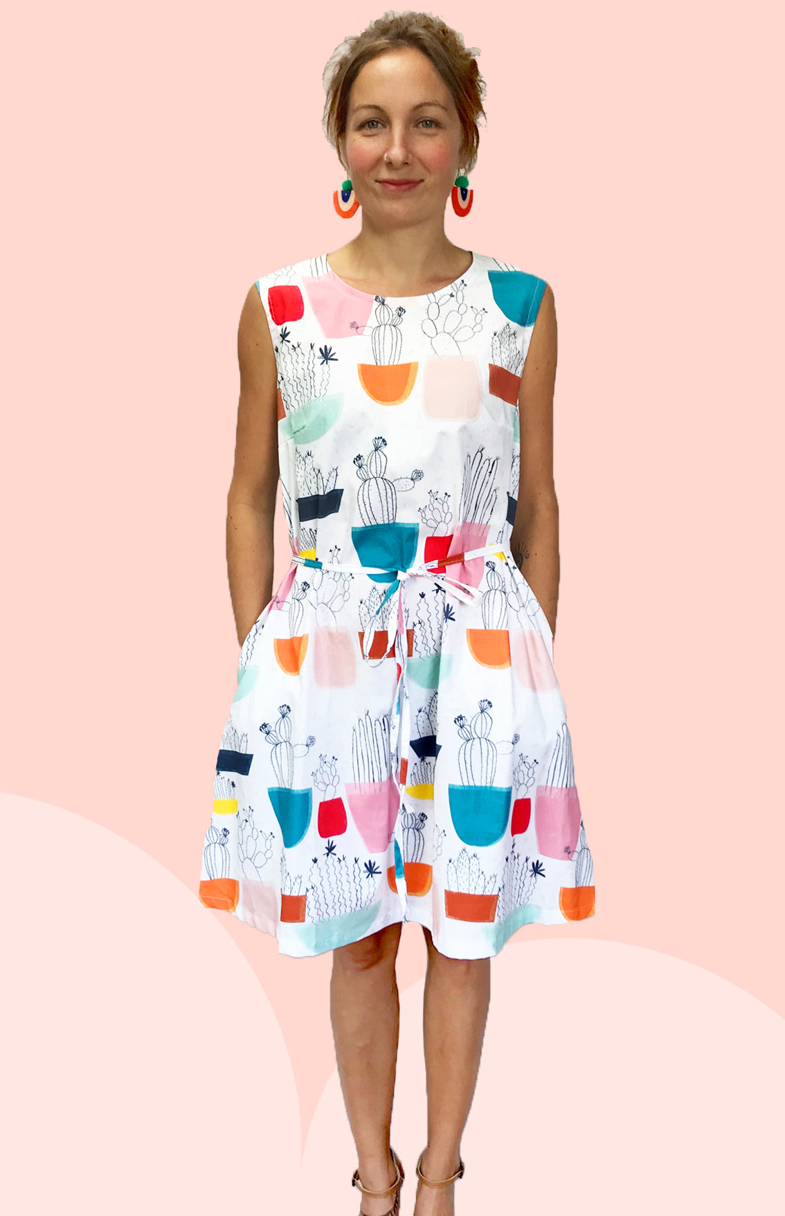 Tilly's Garden 100% cotton dress with pockets