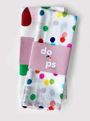 Load image into Gallery viewer, Confetti linen+cotton tea towel