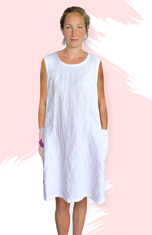 Load image into Gallery viewer, Paint Splat 100% Linen Dress