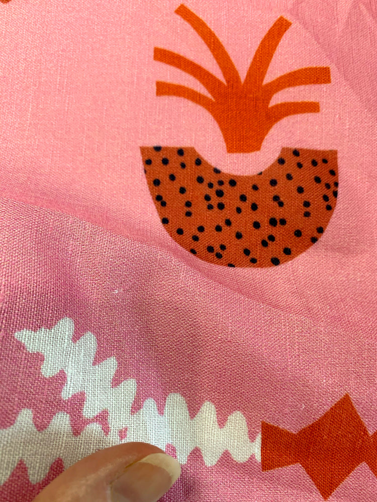 Load image into Gallery viewer, Slow Peach+Caramel cotton linen