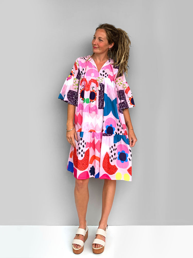 Load image into Gallery viewer, Peachy Kooki  dress 100% lawn cotton