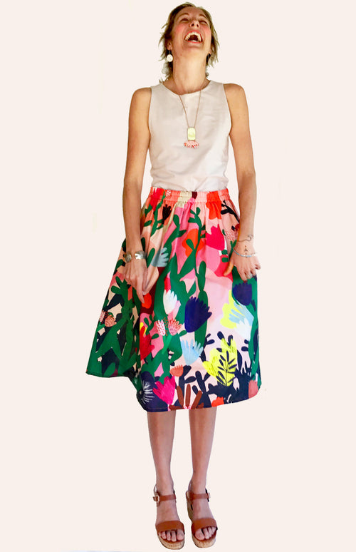 Mor Mor's Garden 100% cotton skirt (ALL SIZES BACK IN STOCK)