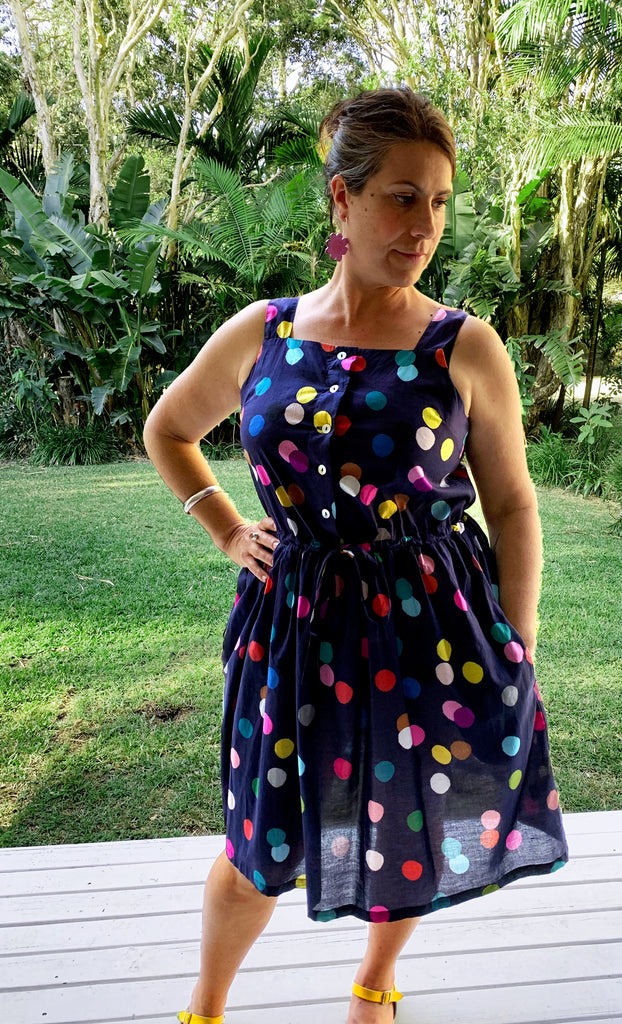 Confetti 100% cotton dress