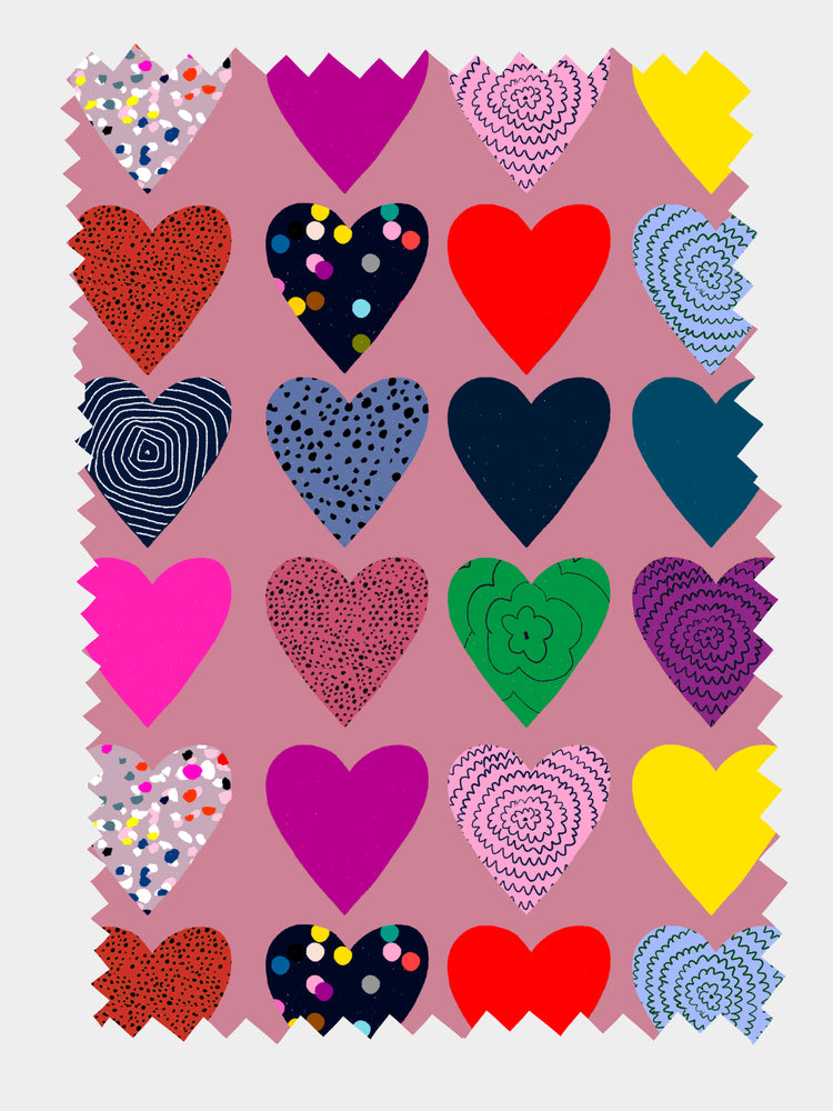 Colourful Hearts 100% Organic cotton knit