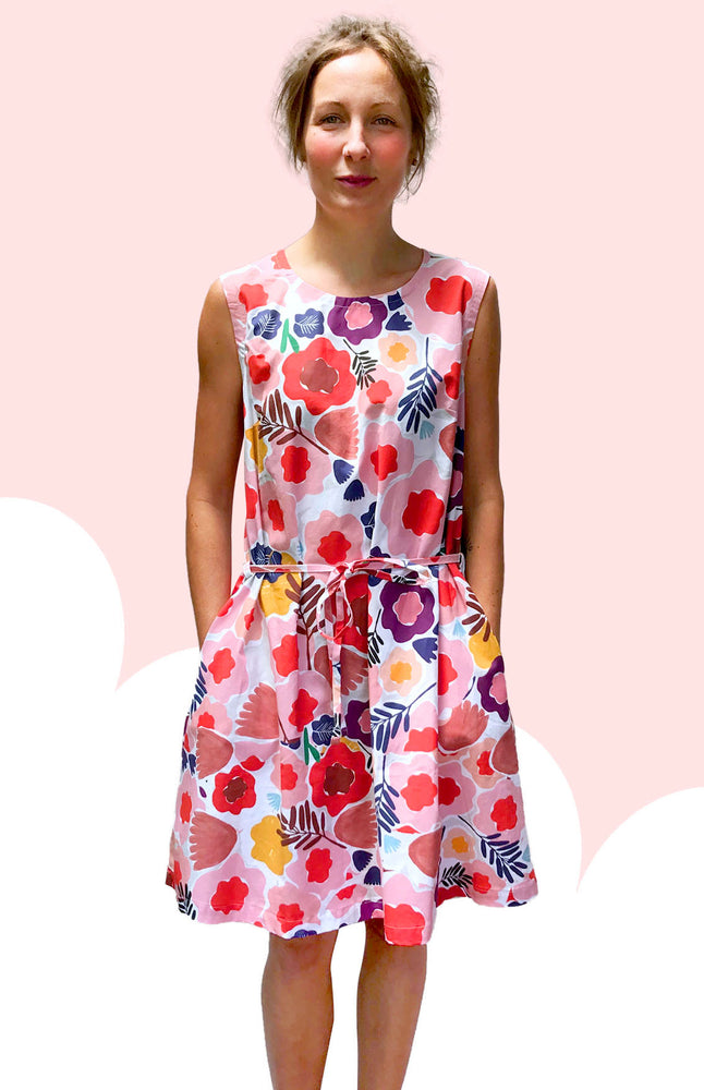 Olive's Garden 100% cotton dress with pockets (sleeveless)