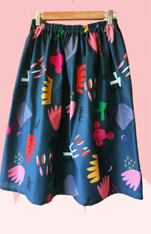 Cut Pot Play cotton skirt