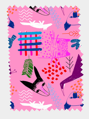Load image into Gallery viewer, Bush Critters (pink) 100% Organic cotton knit