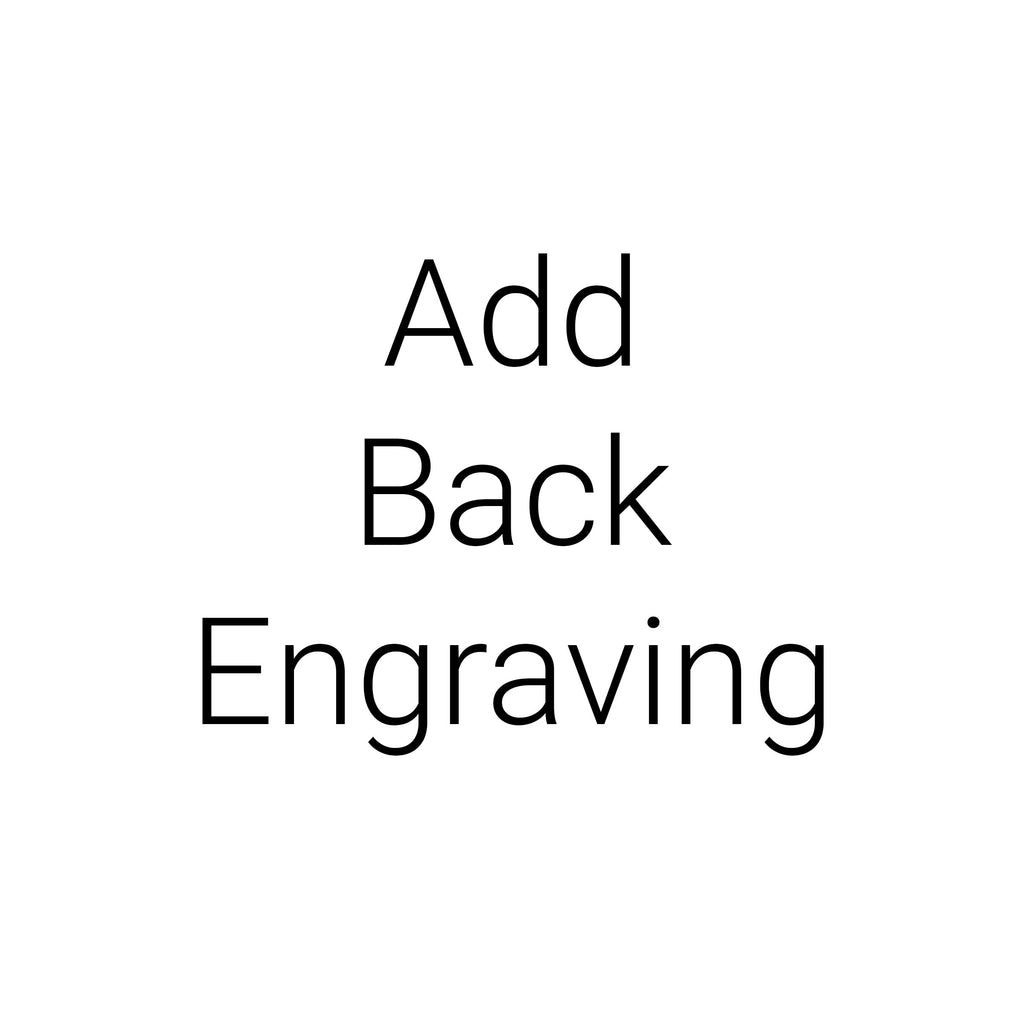 Add Back Engraving