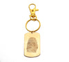 Custom Gold Filled Fingerprint Dog Tag Keychain or Necklace