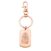 Custom Rose Gold Filled Fingerprint Dog Tag Keychain or Necklace